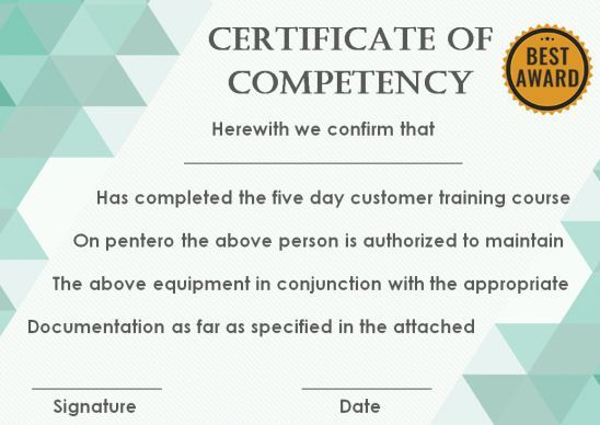 Certificate Of Competency 22 Templates In Word Excel And Pdf