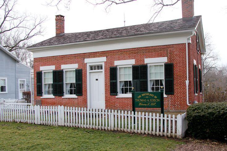 The birthplace of Thomas Edison in Sandusky Ohio.