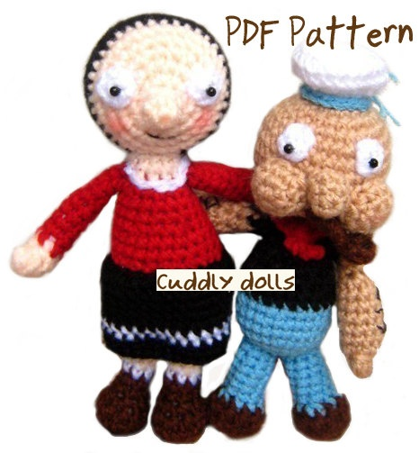 Crochet Pattern Popeye Doll : 124 best images about Popeye the sailor man !! on ...