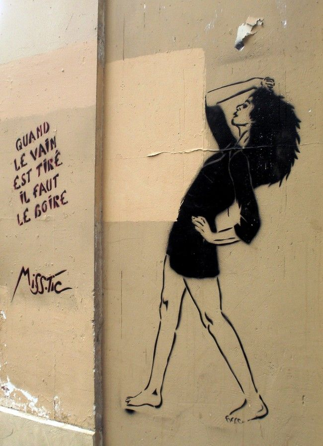 Street Art By Miss-tic - Paris (France)