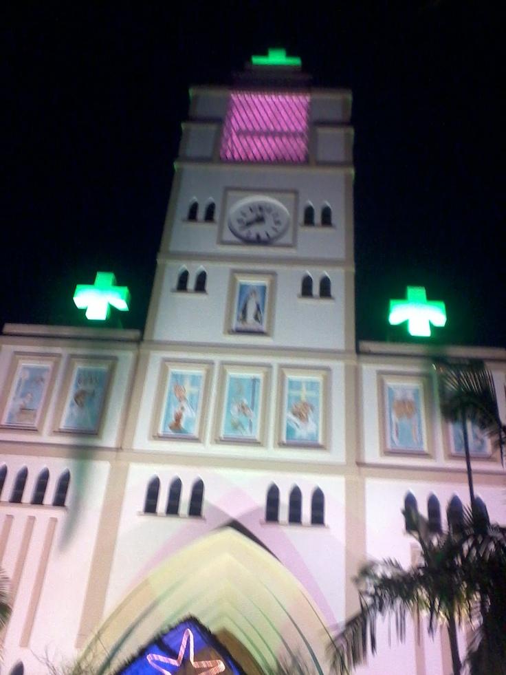 Iluminação de natal da Igreja Matriz de Ararangua/SC(Brazil)