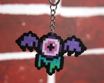 Pastel goth Perler bead flying eye