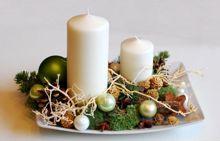 świąteczny stroik na stół - Boże Narodzenie