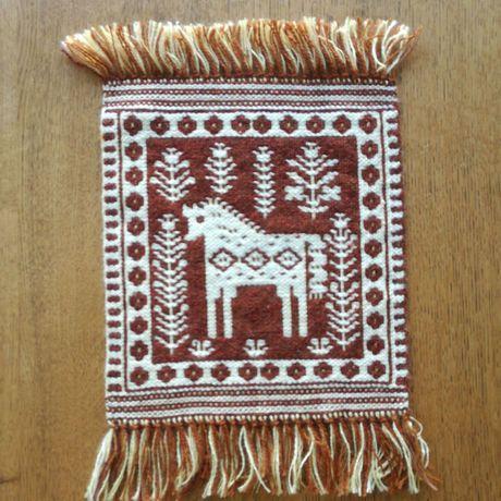 ヤノフ村の織物 タペストリー 森の中の子馬 #1181