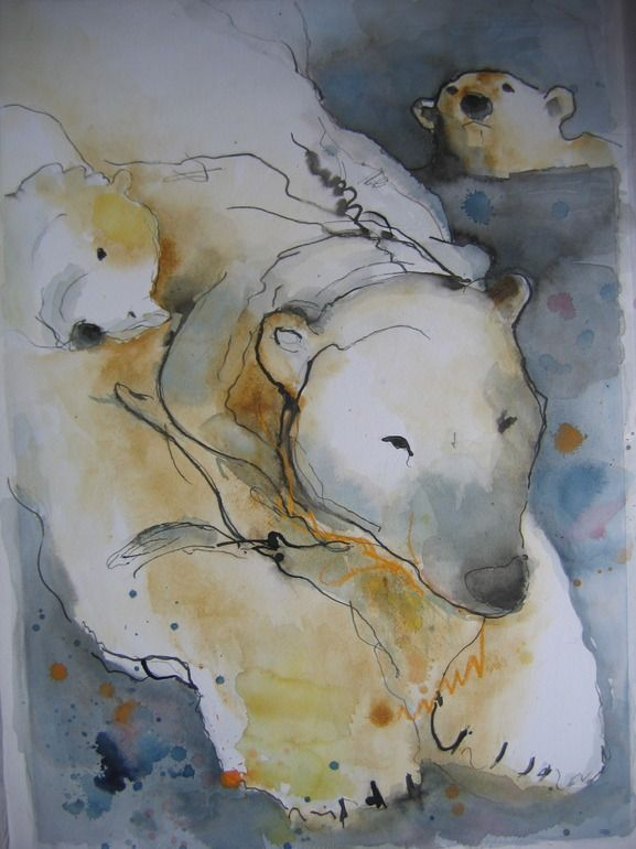"Marie-helene Stokkink / ""Polarbears at Amsterdam zoo"" / Saatchi Art Online"