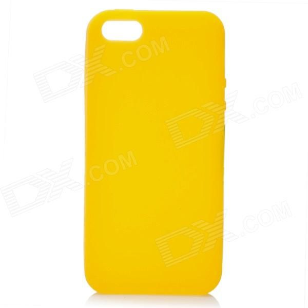 Color: Yellow - Material: Silicone - Protect your Iphone 5 from scratch scrape dust and bump - Special for Iphone 5 http://j.mp/1vnOoVX