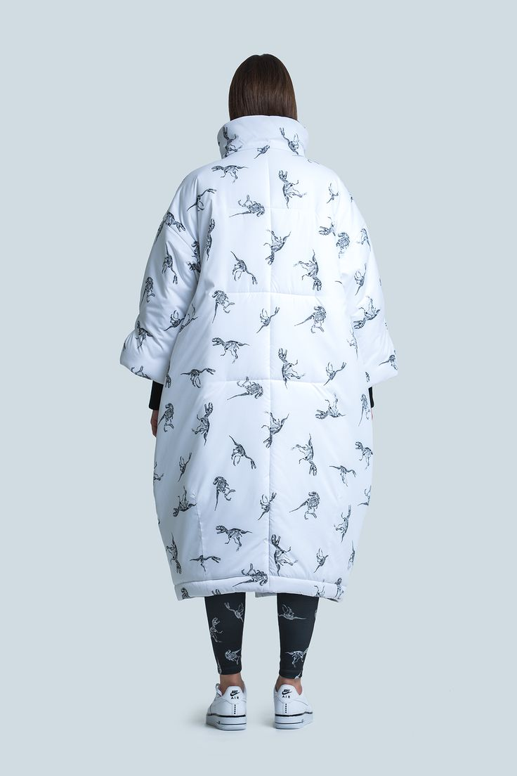 Дутое пальто на липучках - Finch Wear