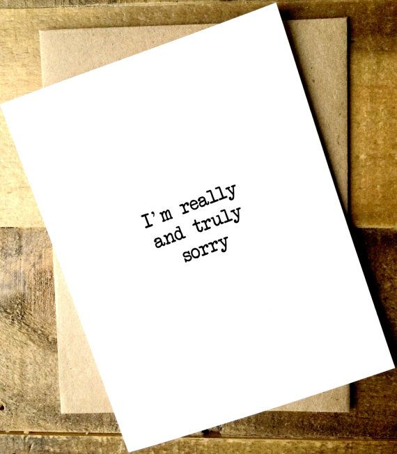 Sympathy Card. Apology Card. I'm Sorry Card. by SeptemberProject