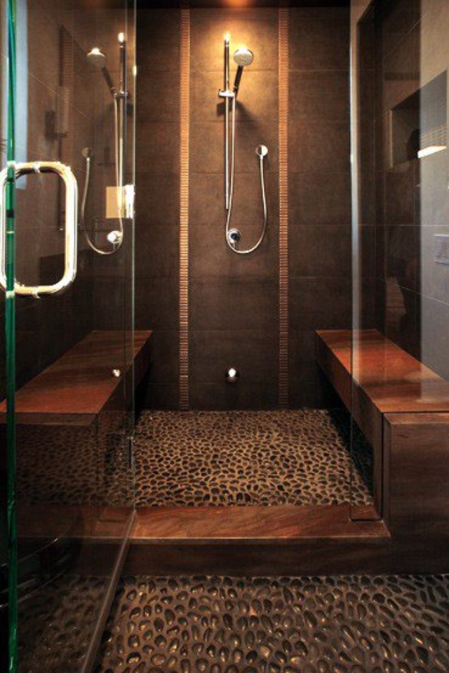 21 Best Images About Bathroom Shower Floor Pebbles Stones