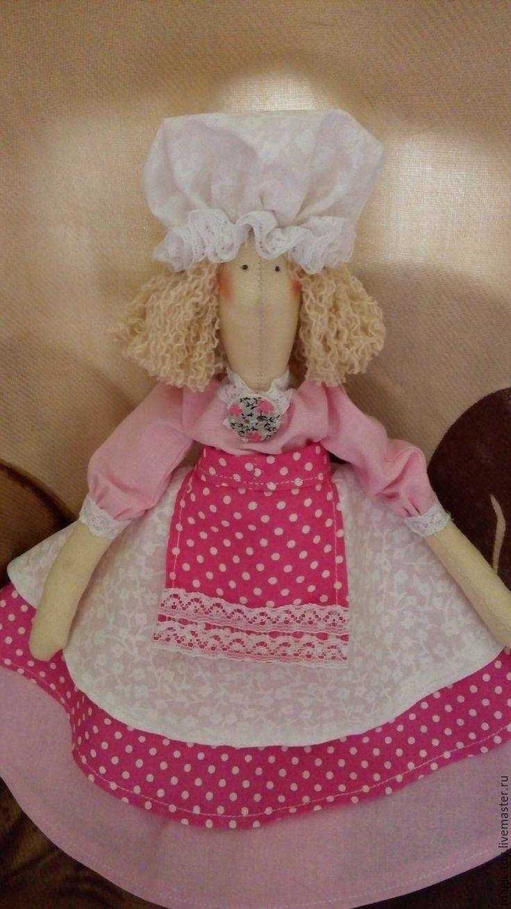 Купить Кукла Тильда Кондитер Фея Вкусняшек - розовый, белый, кукла Тильда, тильда фея