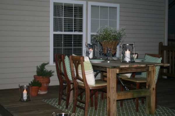 How to build a rustic outdoor dining table using recycled wood