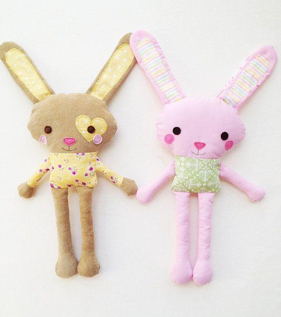 Bunny Sewing Pattern Mini Bunny Plush Toy by GandGPatterns, $8.00