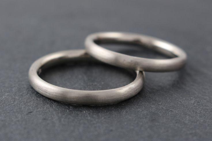 Ringe - schlichte Ehering Weißgold schmal - ein Designerstück von Ina-Stehle bei DaWanda
