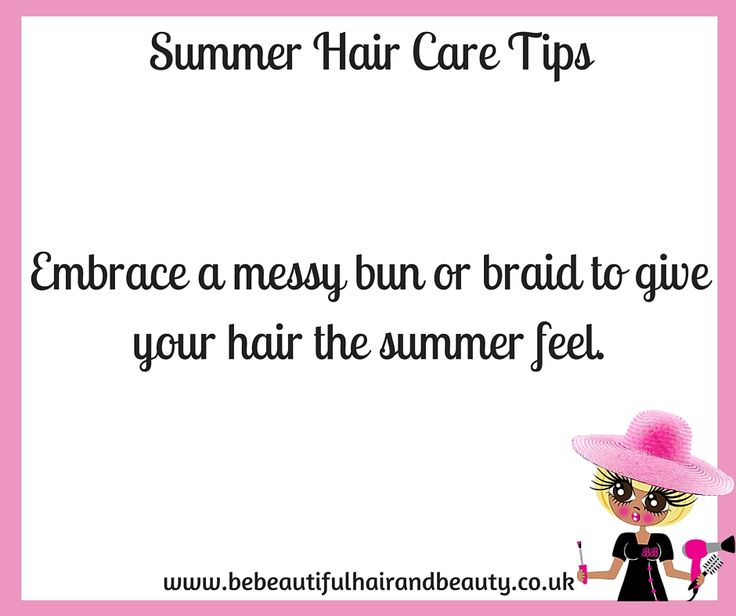 Summer Hair Care Tip #1