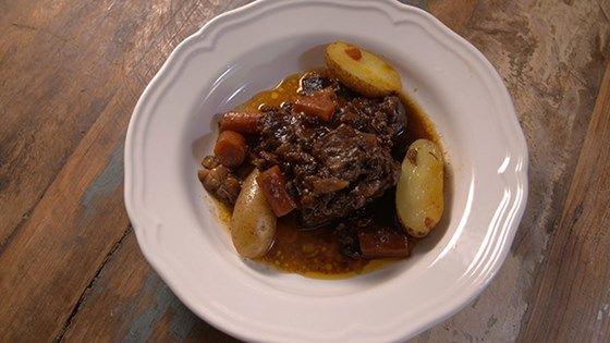 Étuvée de bœuf aux raisins