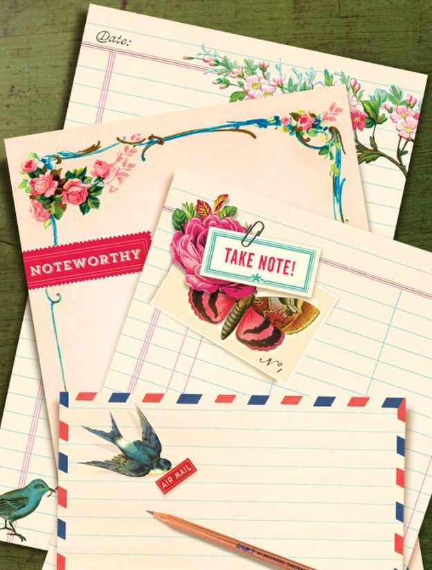 vintage-inspired notepads from Cartolina