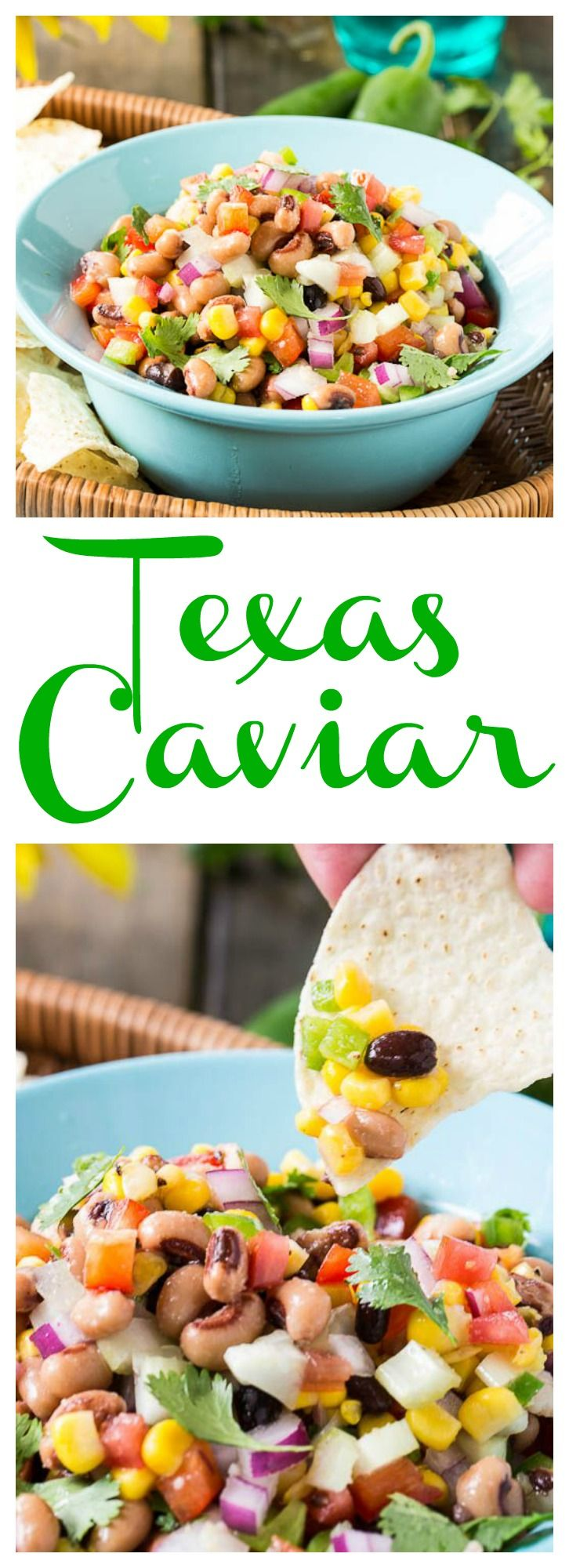 Texas Caviar Bean Dip - with black-eyed peas this is the perfect dip to bring good luck for the New Year!