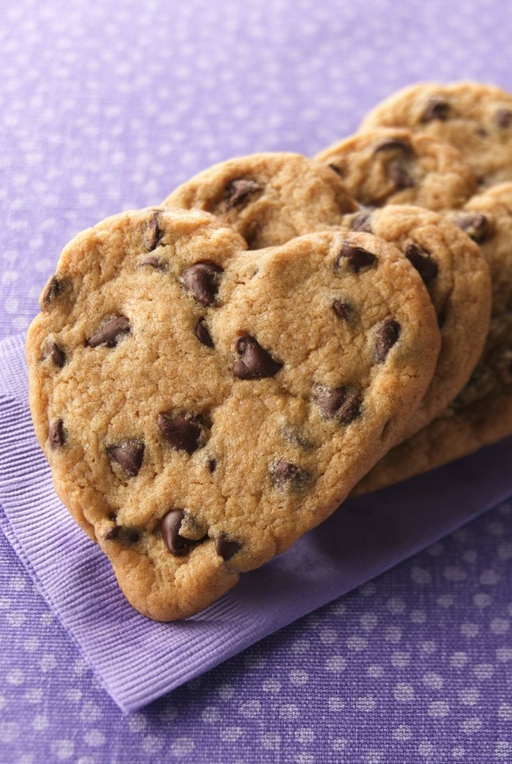 Even your littlest helpers can get in on the action with these press-and-bake, heart-shaped chocolate chippers. For evenly browned cookies, use shiny, heavy aluminum or gray, nonstick-coated baking sheets.