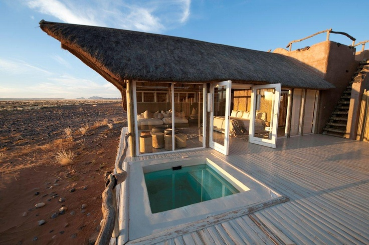The private plunge pool at your villa at Little Kulala, Sossusvlei #Namibia
