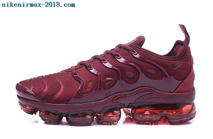 fe1fa1fd9d8 2018 Nike Air Vapormax Plus Mens Sneakers Wine Red