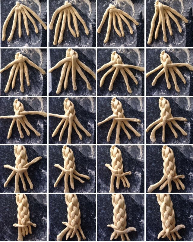 Braiding Challah with 6 strands
