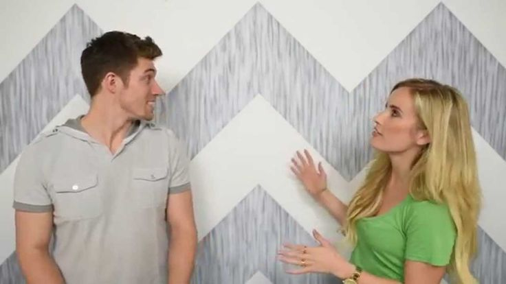 How to Paint a Chevron Wall (Painting Perfect Lines)