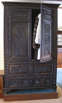 The Lewis Family Wardrobe, originally owned by C.S. Lewis's grandfather. The inspiration for the Narnia books. Now on display at the Wade Center at Wheaton College in Illinois.