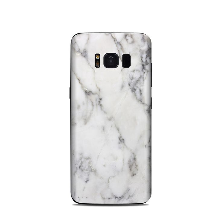 Samsung Galaxy S8 Skin - White Marble by Marble Collection | DecalGirl