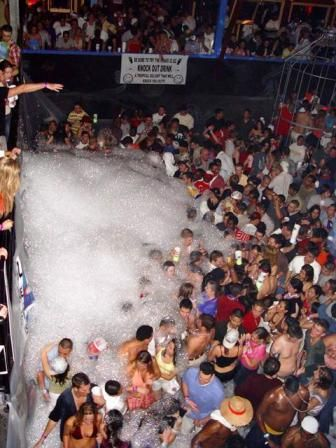 South Padre Island's festivities include their infamous foam parties! - South Padre Island, Texas