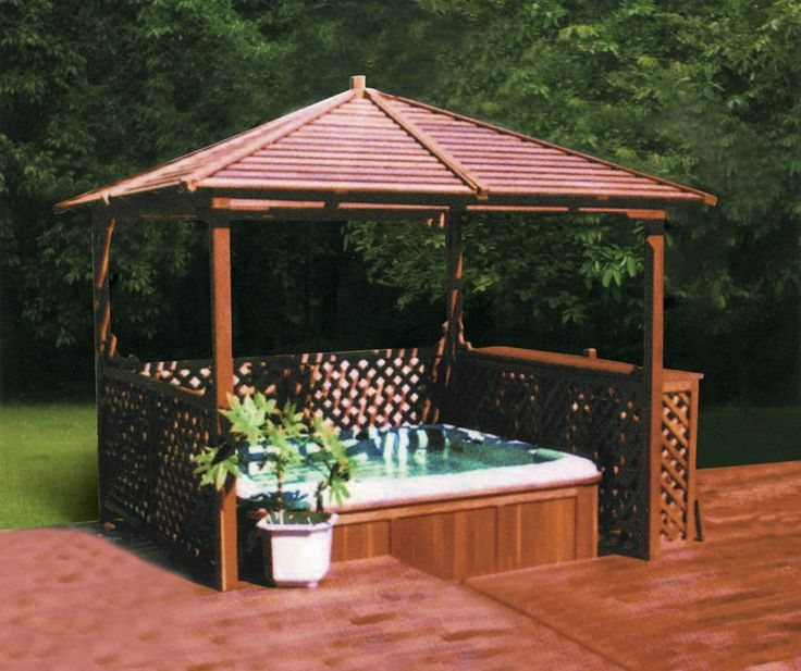 11 Best Hot Tub Gazebos Canopy Bower Shelter Images On