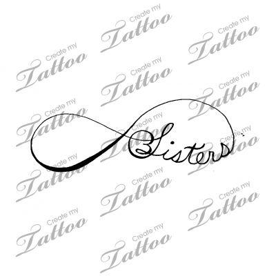 Sisters Infinity Tattoo | 1 #53491 | CreateMyTattoo.com