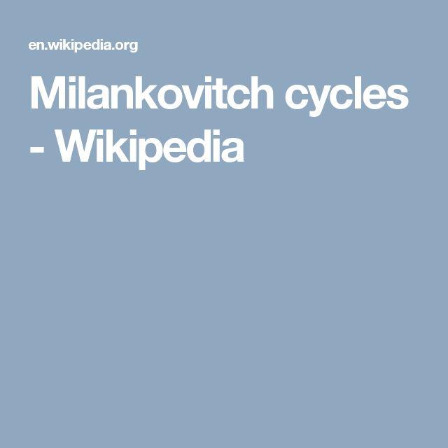 Milankovitch cycles - Wikipedia