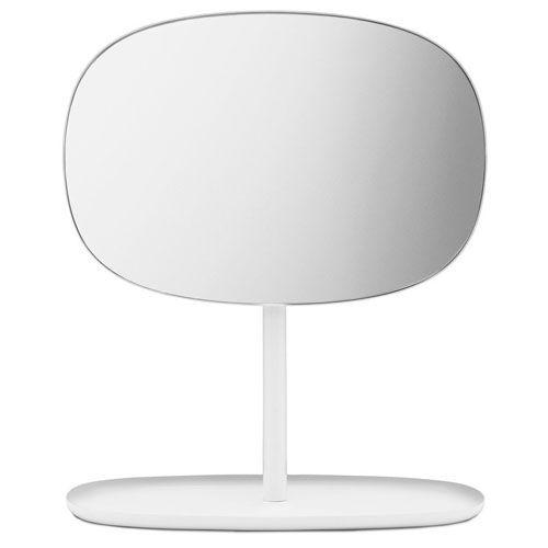 FLIP Modern Makeup Mirror by Normann Copenhagen, White