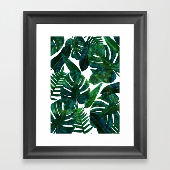 Tropical Leaves Painted Pattern