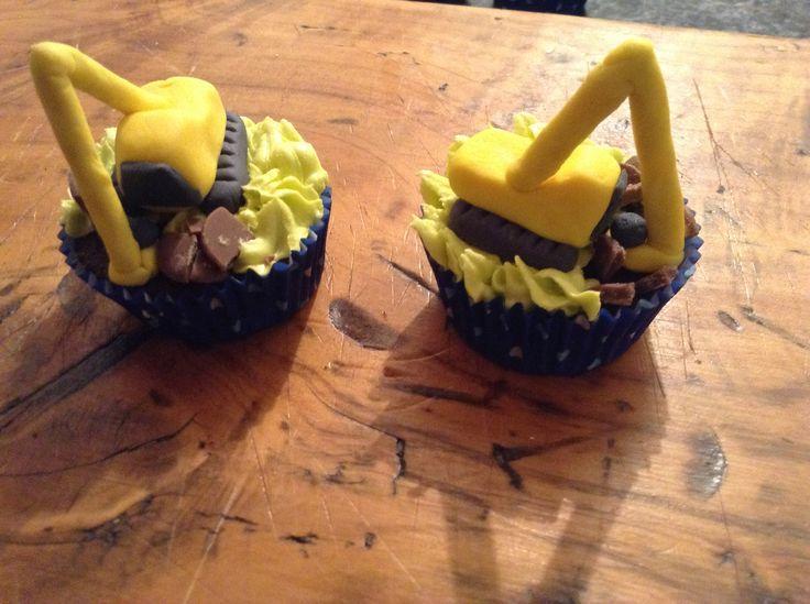 Digger cupcakes