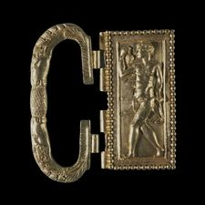 British Museum - Gold buckle from the Thetford treasure - Roman Britain, 4th century AD  From Thetford, Norfolk  A dancing satyr