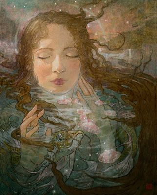 """Becoming"" by Rebecca Guay is available at the R. Michelson Galleries"