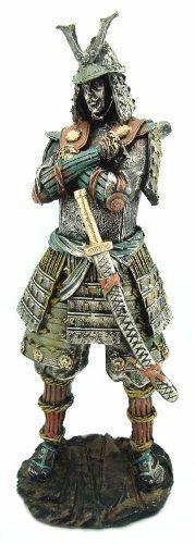 Estatueta Samurai Guerreiro Soldado Katana China Resina 41cm