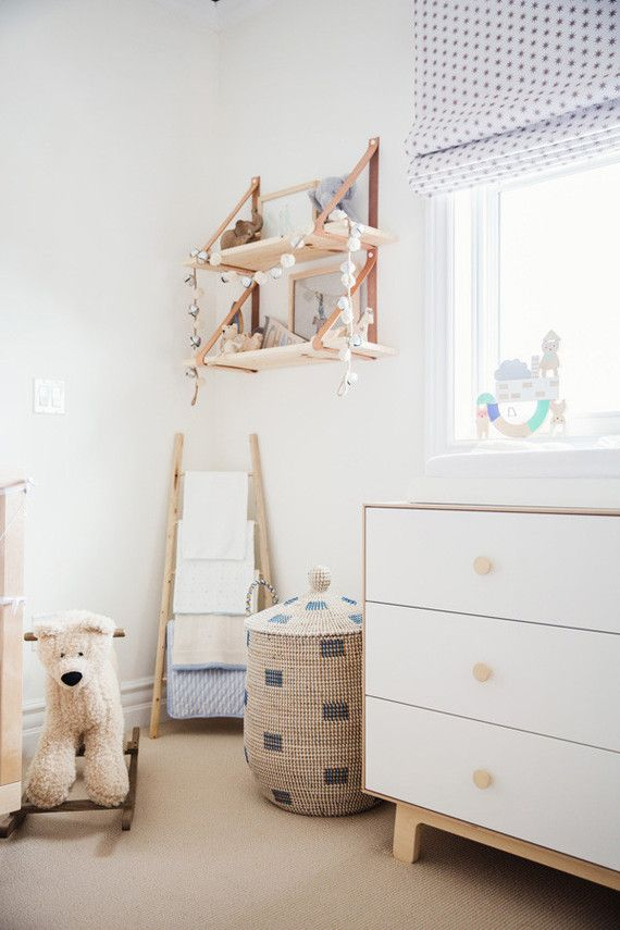 Neutral Natural Boys Nursery With La Jolla Basket #serenaandlily