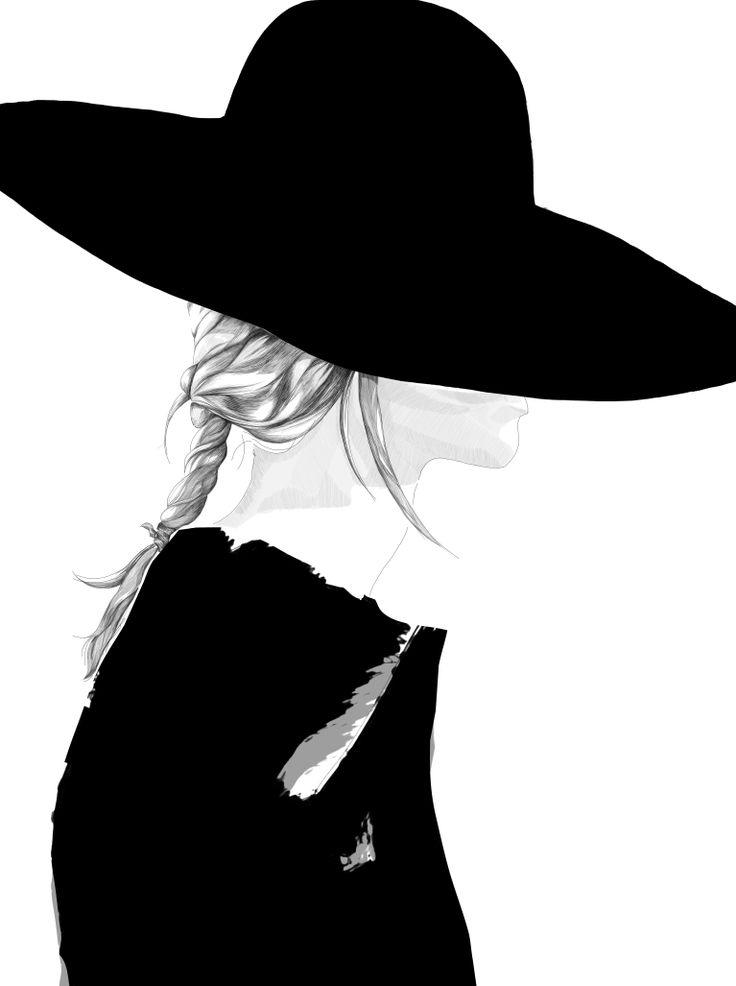 Illustration - Susanne Björkdahl - Borsalino - Hat
