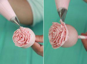 Cake Pops de rosa
