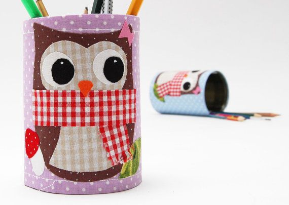 organizer with owl by JosefinesKinder on Etsy, €7.00