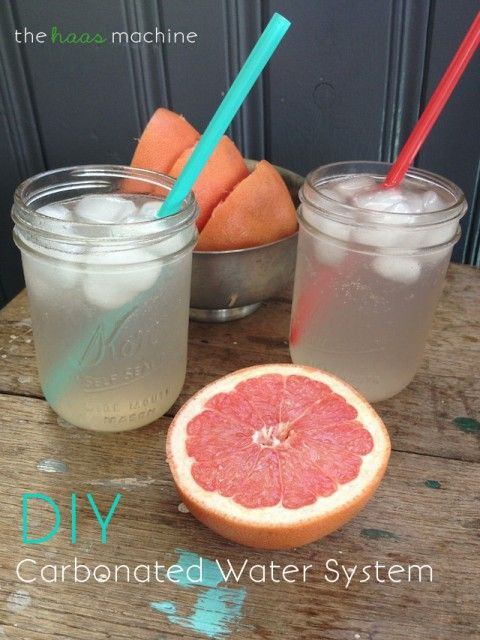 DIY Carbonated Water System: Need something a little bubbly? Make your own carbonated water system & sip 'til you're satisfied! // The Haas Machine