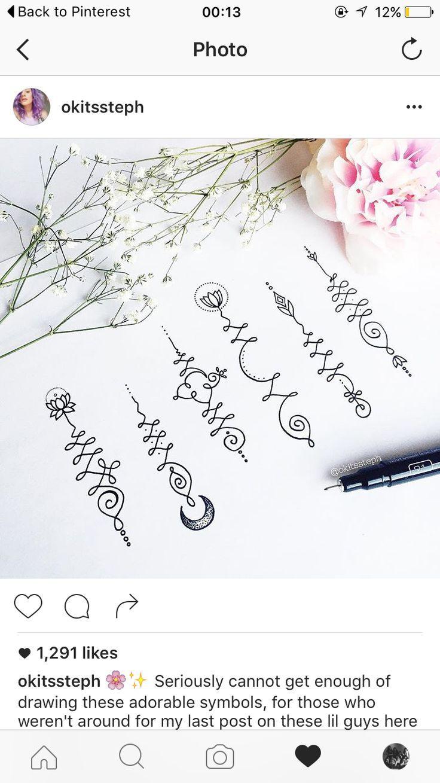 Unalome symbol, tattoo, unalome, Buddhist, mandala                              …
