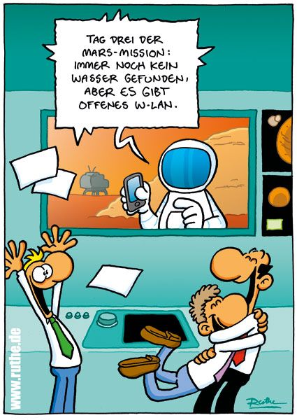 Cartoon von Ruthe – Shit happens