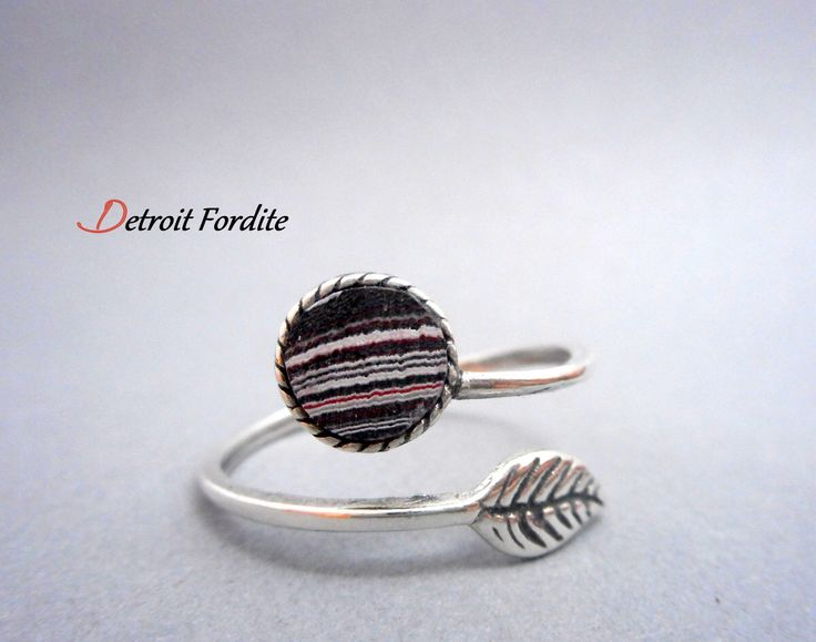 Fordite Ring. Fordite Jewelry.  Motor City Agate.  Made in Detroit.  Sterling Silver Ring by DetroitRocksJewelry on Etsy https://www.etsy.com/listing/269929769/fordite-ring-fordite-jewelry-motor-city