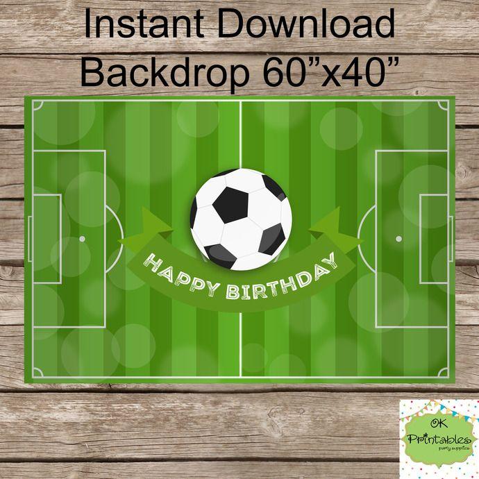 Sports Backdrop - Football backdrop- Soccer Background - Instant Download- Dessert table backdrop by okprintables, $8.00 EUR