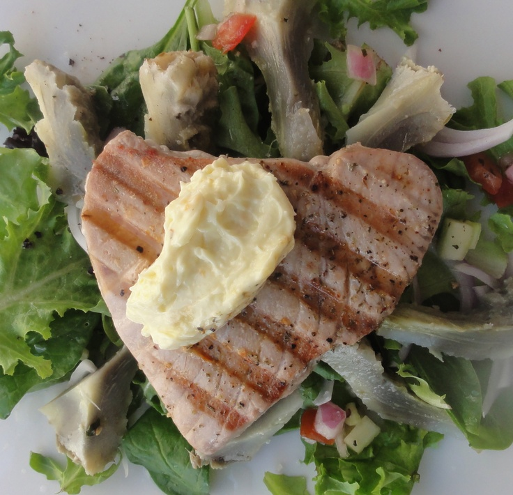 Tuna steaks, Garlic aioli and Artichoke hearts on Pinterest