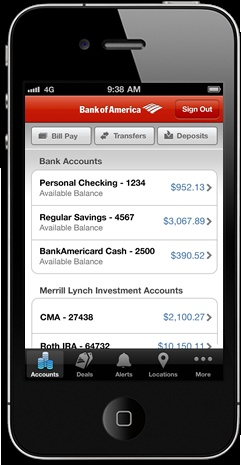 Bank of America mobile apps