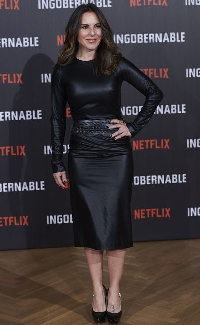 Kate del Castillo wears a leather dress at a photocall for Netflix's 'Ingobernable' in Madrid - March 28, 2017